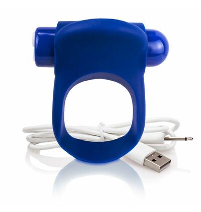 The Screaming O Charged You Turn Plus Blueberry - Wibrujący pierścień erekcyjny, Niebieski