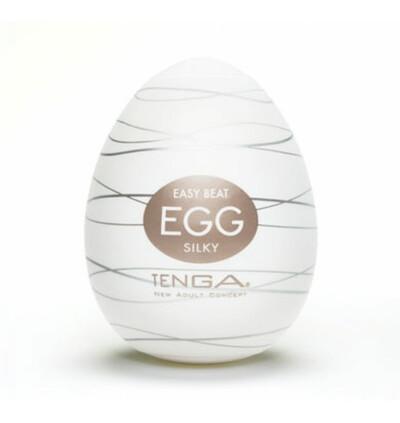 Tenga Egg Silky - masturbator w kształcie jajka (6szt)