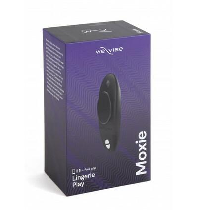We-Vibe Moxie Satin Black - wibrator łechtaczkowy do bielizny