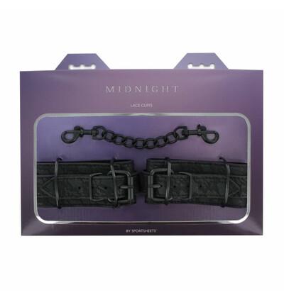 Sportsheets Midnight Lace Cuffs - Kajdanki