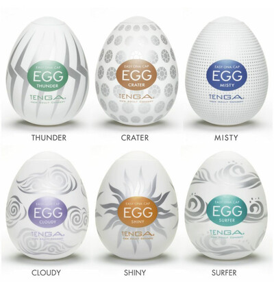 Tenga Egg 6 Styles Pack Serie 2 - masturbator w kształcie jajka (6szt)