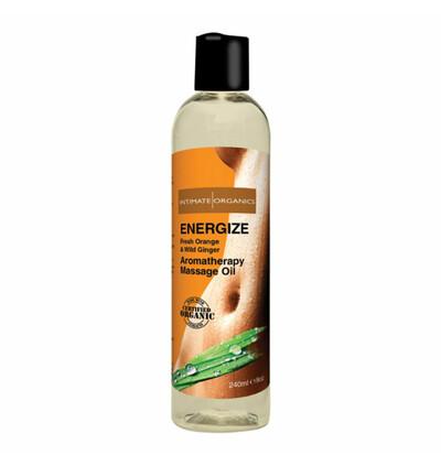Intimate Organics Energize Massage Oil 240 ml - Organiczny Energetyzujący olejek do masażu