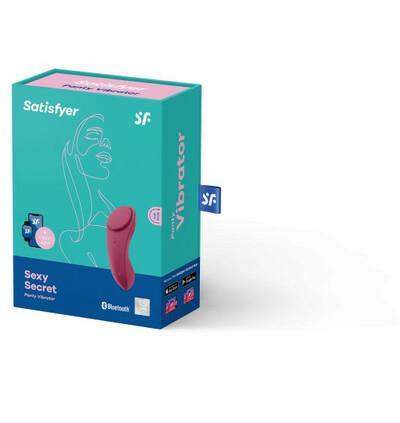 Satisfyer Sexy Secret Panty Vibrator Red - Wibrator łechtaczkowy do bielizny