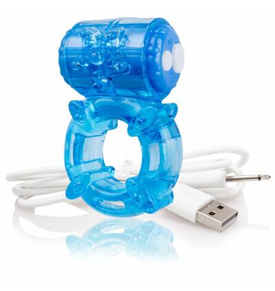 The Screaming O Charged Big O Blue - Wibrujący pierścień erekcyjny, Niebieski