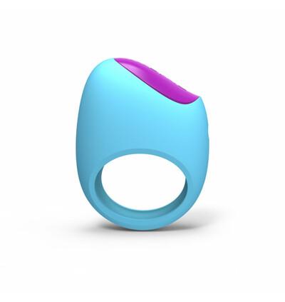 PicoBong Remoji Lifeguard Ring Vibe Blue - Wibrujący pierścień erekcyjny z aplikacją na smartfona, Niebieski