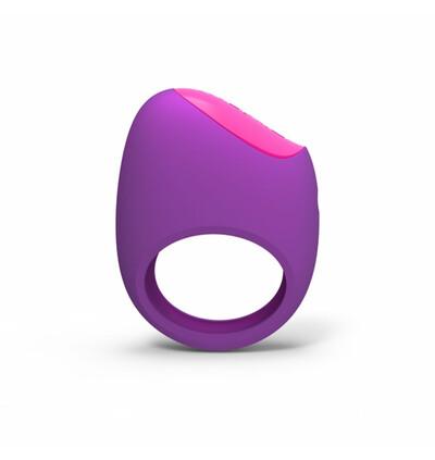 PicoBong Remoji Lifeguard Ring Vibe Purple - Wibrujący pierścień erekcyjny z aplikacją na smartfona, Fioletowy