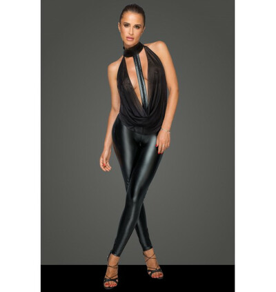 Noir Handmade F223 Overall with tulle top and choker - Kombinezon