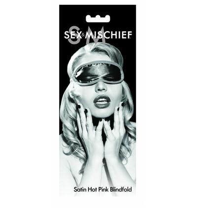 Sex&Mischief Satin Blindfold Hot Pink - Opaska na oczy różowa