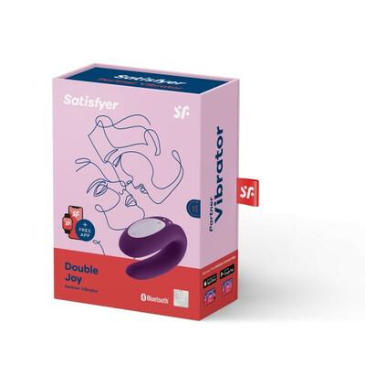Satisfyer Double Joy Violet  - Wibrator dla par sterowany aplikacją