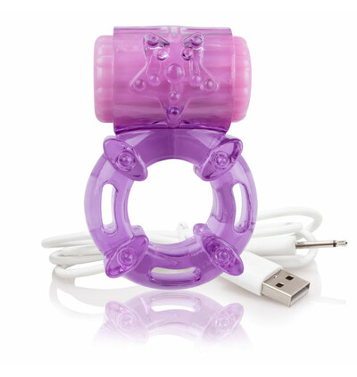 The Screaming O Charged Big O Purple - Wibrujący pierścień erekcyjny, Fioletowy