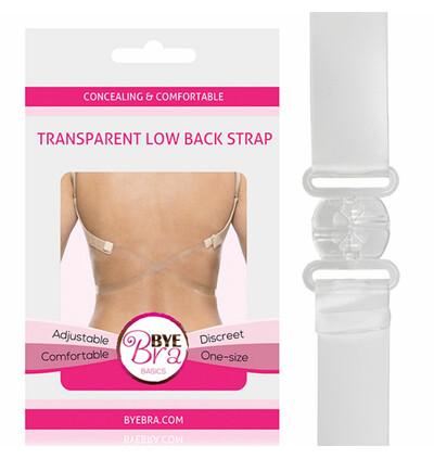 Bye Bra  Transparent Low Back Strap - Pasek obniżający zapięcie, przezroczysty