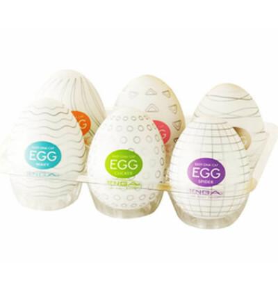 Tenga Egg 6 Styles Pack - Zestaw sześciu masturbatorów