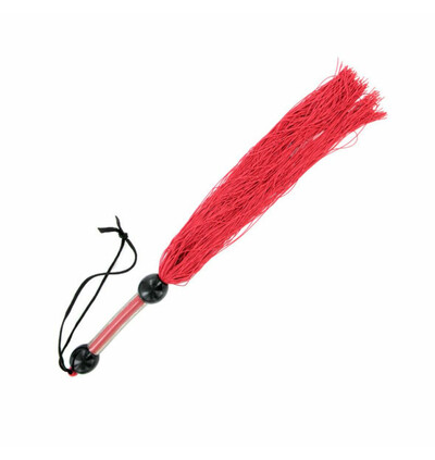 Sex&Mischief średni gumowy bicz, Czerwony