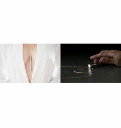 Crave Vesper Vibrator Necklace -Miniwibrator w kształcie naszyjnika, Złoty