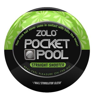 Zolo Pocket Straight Shooter - Masturbator w kształcie kuli do bilarda