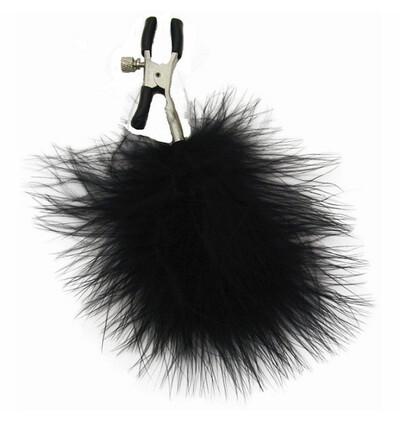Sex&Mischief Feathered Nipple Clamps - Zaciski na sutki