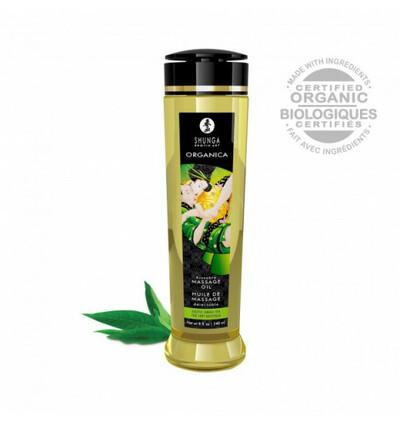 Shunga Natural Massage Oil Organica Green Tea 240ml - organiczny olejek do masażu