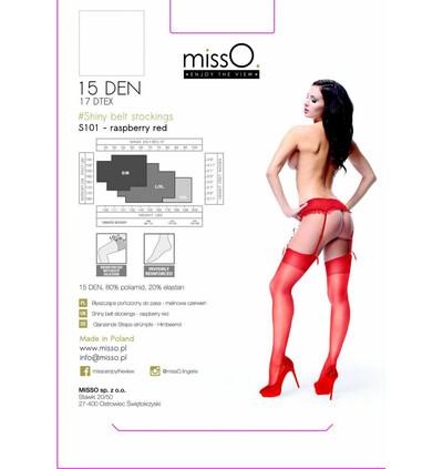 MissO S101 - Pończochy do pasa, Czerwone