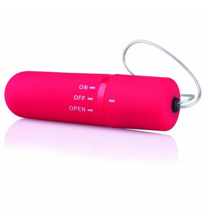 The Screaming O Remote Control Panty Vibe Red - Zdalnie sterowany wibrator do majtek , Czerwony