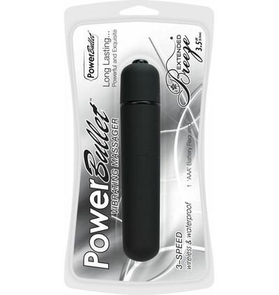 PowerBullet Extended Breeze Black - Miniwibrator, Czarny