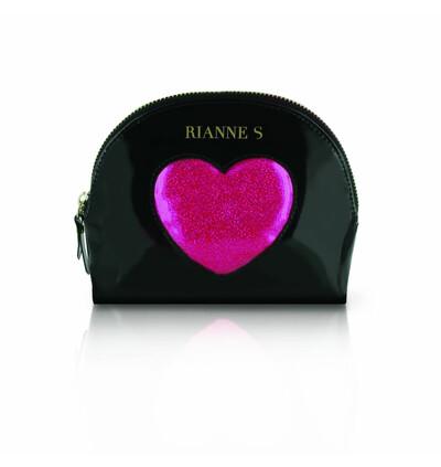 Rianne S Kit dAmour Black/Pink - Wibrujący pierścień erekcyjny, Czarny z Różowym