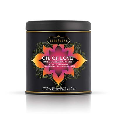Kama Sutra Oil of Love The Collection Set - Zestaw olejków do masażu