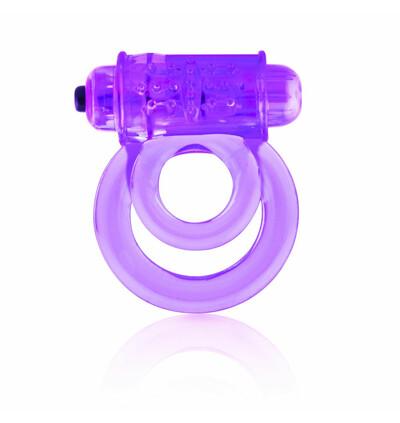 The Screaming O DoubleO 6 Purple - Wibrujący pierścień erekcyjny, Fioletowy