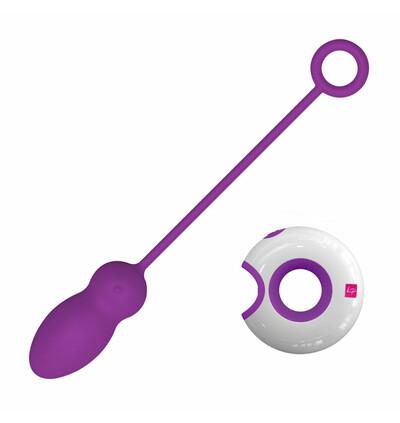LoversPremium O Remote Control Egg Leya -  Zdalnie sterowane wibrujące jajeczko, Fioletowy