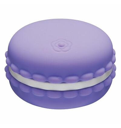 Kawaii Macaroon Massager Blackcurrant Violet - Miniwibrator w kształcie ciasteczka, Fioletowy