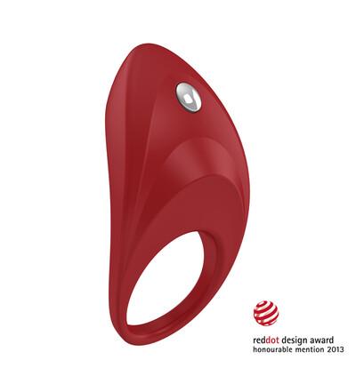OvoB7 Vibrating Ring Red - Wibrujący pierścień erekcyjny, Czerwony