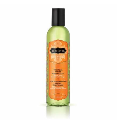 Kama Sutra Naturals Massage Oil Tropical - Naturalny olejek do masażu, Owoce tropikalne