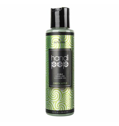 Sensuva Handipop Green Apple Hand Job Massage Gel 125 ml - żel do masażu
