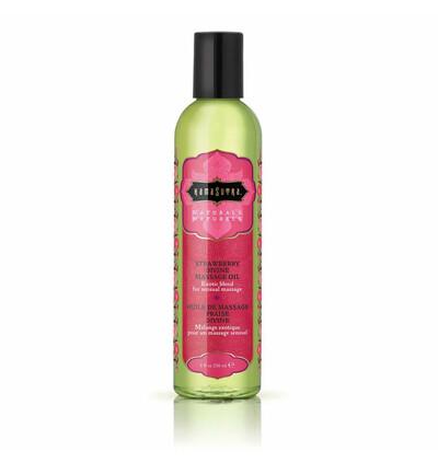 Kama Sutra Naturals Massage Oil Strawberry - Naturalny olejek do masażu, Truskawowy