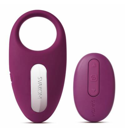 Svakom Winni Vibrating Ring Violet - wibrujący pierścień erekcyjny , Fioletowy