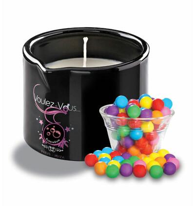 Voulez-Vous... Massage Candle Bubblegum - świeca do masażu Gumy do żucia